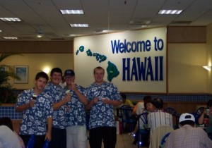 It's your players program, allow them to have a say.  This was in 2003, our team took a trip to Hawaii for a game v. Baldwin High School on Maui.