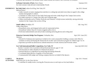 Sophomore-Resume