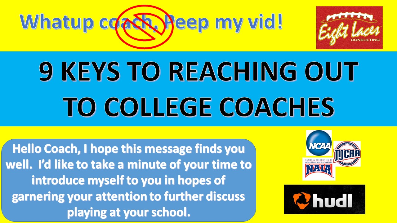 9 Keys To Reaching Out To A College Coach Welcome To Coachfore