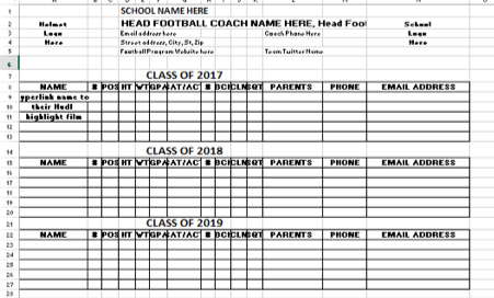 College List Template from coachfore.org